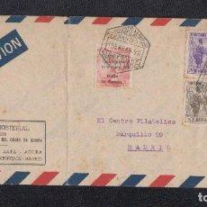 Sellos: 1948.- SANTA ISABEL (FERNANDO POO) A MADRID. Lote 116523011
