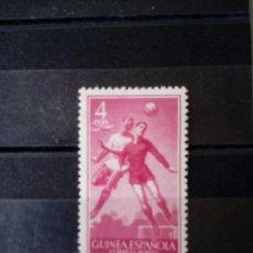 Sellos: GUINEA ESPAÑOLA. EDIFIL 353 ** . NUEVO SIN FIJASELLOS. 4 PESETAS 1955. Lote 116636535