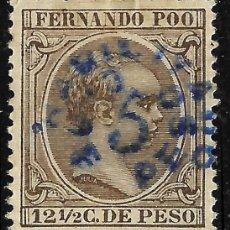 Sellos: SELLOS. COLONIAS ESPAÑOLAS. FERNANDO POO 1896-1900 ALF. XIII. HABILITADO TIPO B EDIFIL Nº37 NUEVO. Lote 116828023