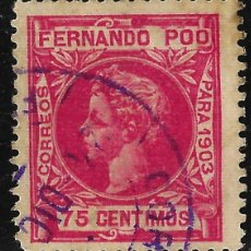 Sellos: SELLOS. ESPAÑA. COLONIAS ESPAÑOLAS. FERNANDO POO 1903 ALFONSO XIII. EDIFIL Nº129 USADO. . Lote 116830259