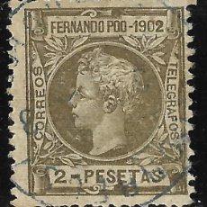 Sellos: SELLOS. ESPAÑA. COLONIAS ESPAÑOLAS. FERNANDO POO 1902 ALFONSO XIII.EDIFIL Nº116. MATASELLADO. . Lote 116918335
