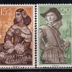 Sellos: SAHARA , 1959 EDIFIL Nº 156 / 159 / * / . Lote 116963583