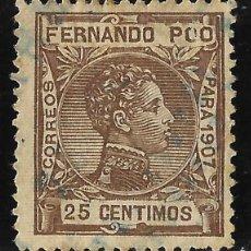 Sellos: SELLOS. ESPAÑA. COLONIAS ESPAÑOLAS. FERNANDO POO 1907 ALFONSO XIII .EDIFIL Nº159 . USADO. Lote 117322255