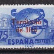 Sellos: IFNI 1949. SELLOS DE ESPAÑA SOBRECARGADOS SERIE NUEVA SIN FIJASELLOS EDIFIL Nº 65/67. Lote 117667159