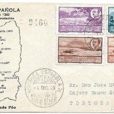 Sellos: GUINEA ESPAÑOLA. CARTA CIRCULADA POR CORREO CERTIFICADO CON SELLOS DE GUINEA . Lote 117925415