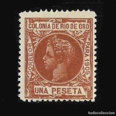 Sellos: SELLOS ESPAÑA. COLONIAS ESPAÑOLAS. RÍO DE ORO. 1905. ALFONSO XIII. EDIFIL Nº 11. NUEVO. . Lote 117947811