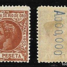 Sellos: RÍO DE ORO.1905. ALFONSO XIII.1P Nº 000,000..EDIFIL 11.MH. Lote 117947811