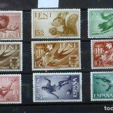 Sellos: IFNI- 3 SERIES, NUEVAS, CON MARCA DE FIJASELLOS. Lote 118467703