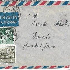 Sellos: COLONIAS ESPAÑOLAS. AFRICA OCCIDENTAL. SOBRE CIRCULADO A GUADALAJARA. Lote 118820127