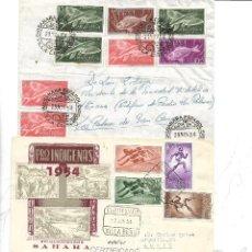 Sellos: SAHARA. TRES SOBRES. UNO CON MATASELLO CERTIFICADO. Lote 118830739