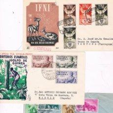 Sellos: COLONIAS ESPAÑOLAS. GUINEA E IFNI. CONJUNTO DE 3 SOBRES CIRCULADOS. Lote 119424447
