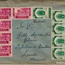 Sellos: CARTA DE MARRUECOS CON SELLOS NUMS. 148-149 AÑO 1937 CENSURA MILITAR DE LARACHE -. Lote 120659011