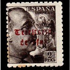 Sellos: IFNI - 1948-1949 SELLO DE ESPAÑA CON SOBRECARGA -NUM. 53 NUEVO CON FIJASELLOS. Lote 120669619