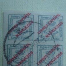 Sellos: SELLOS HABILITADOS DE ESPAÑA EN MARRUECOS. EDIFIL 1 1903. MATASELLADO. . Lote 121937607