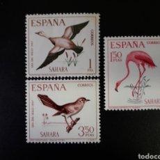 Sellos: SAHARA ESPAÑOL. EDIFIL 262/4. SERIE COMPLETA NUEVA SIN CHARNELA. FAUNA. AVES. 1967.. Lote 122495799
