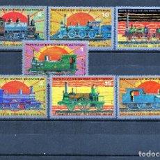 Sellos: ++ REPUBLICA DE GUINEA ECUATORIAL AÑO 1972 TRENES SELLOS NUEVOS. Lote 200125856