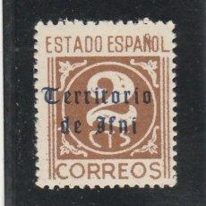 Sellos: IFNI 1948-49 - EDIFIL NRO. 37 - SELLO DE ESPAÑA 2 C. HABILITADO - NUEVO. Lote 125088635