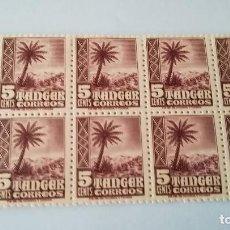 Sellos: BLOQUE DE 10 SELLOS DE TANGER DEL AÑO 1948 NUEVOS CON GOMA. Lote 124457059