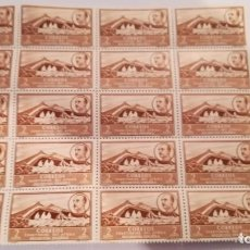 Sellos: BLOQUE DE 20 SELLOS DEL AFRICA OCCIDENTAL ESPAÑOLA DEL AÑO 1950 NUEVOS CON GOMA. Lote 124571355
