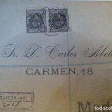 Sellos: CARTA CERTIFICADA FRANQUEADA 2 SELLOS Nº 94 (Nº 88 HABILITADOS) A MADRID. LLEGADA 26 DICIEMBRE 1.900. Lote 124708947