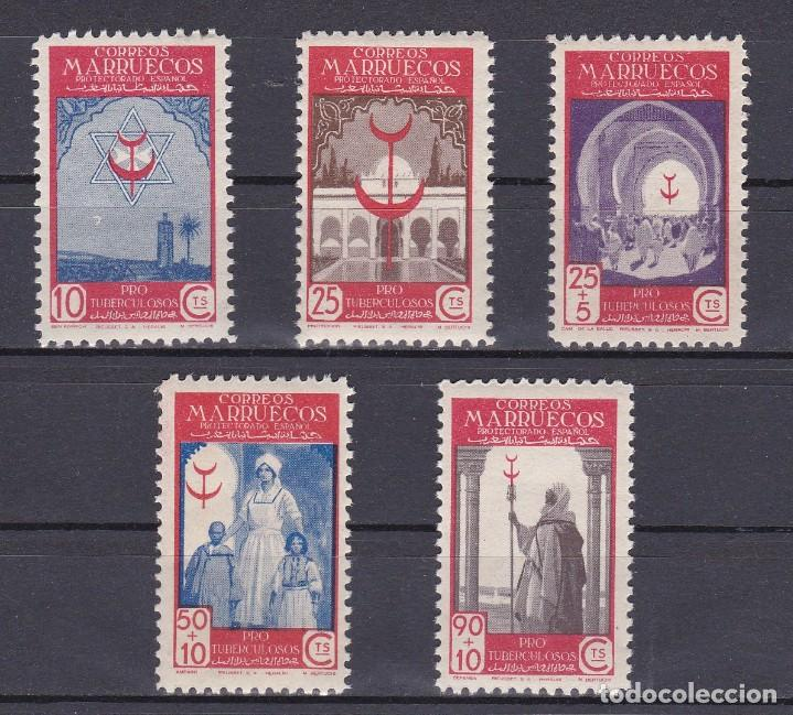 MARRUECOS AÑO 1947 PRO TUBERCULOSOS, EDIFIL Nº 275 A 279* * (NUEVOS) (Sellos - España - Colonias Españolas y Dependencias - África - Marruecos)