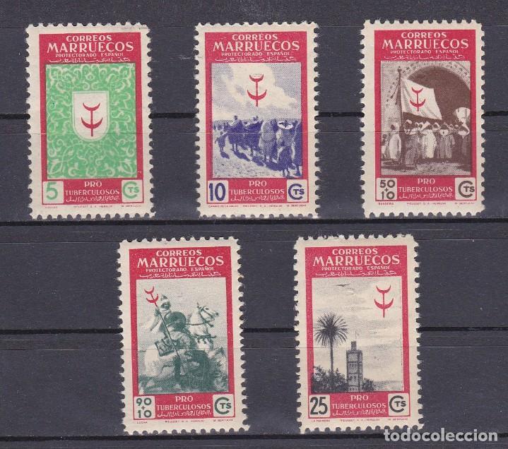 MARRUECOS AÑO 1949 PRO TUBERCULOSOS, EDIFIL Nº 307 A 311* * (NUEVOS) (Sellos - España - Colonias Españolas y Dependencias - África - Marruecos)