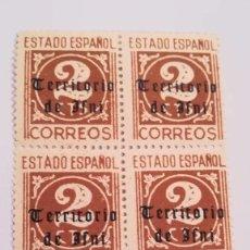 Sellos: BLOQUE DE 6 SELLOS TERRITORIO DE IFNI DEL AÑO 1948 NUEVOS CON GOMA. Lote 125236547