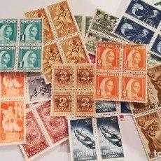 Selos: 18 BLOQUES DE 4 SELLOS DE COLONIAS ESPAÑOLAS EN AFRICA NUEVOS SIN GOMA. Lote 125239519