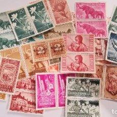Selos: 24 PAREJAS DE SELLOS DE COLONIAS ESPAÑOLAS EN AFRICA NUEVOS SIN GOMA. Lote 125239603
