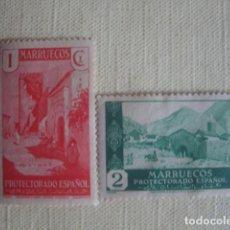 Sellos: MARRUECOS ESPAÑOL 1933. EDIFIL 133-134. XAUEN. NUEVOS CON CHARNELA. Lote 126437731