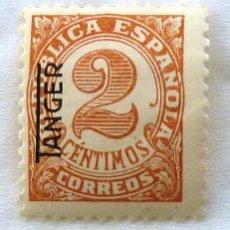 Sellos: SELLOS TANGER 1937-1938. SELLOS DE ESPAÑA. HABILITADOS. NUEVO CON CHARNELA. EDIFIL 86. Lote 128154011