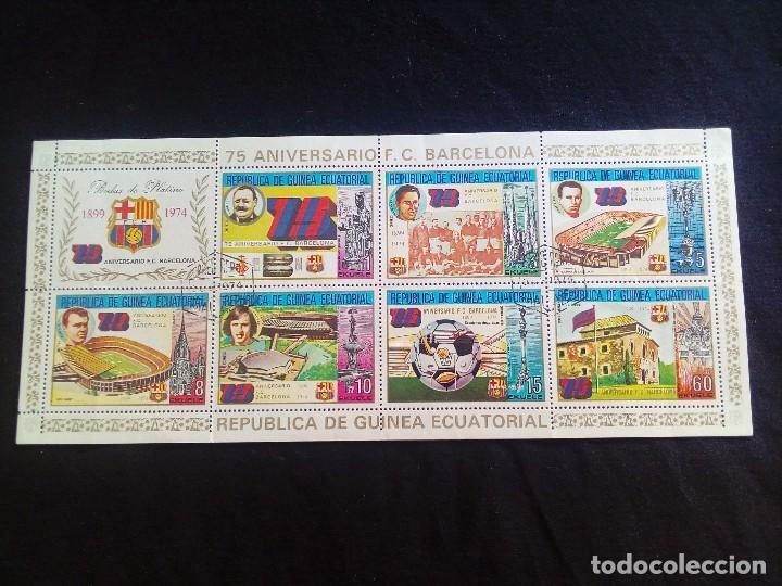 75 ANIVERSARIO F.C.BARCELONA GUINEA ECUATORIAL (Sellos - España - Colonias Españolas y Dependencias - África - Guinea)