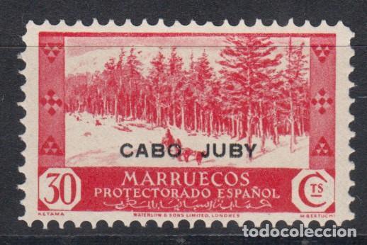 CABO JUBY, EDIFIL Nº 80 D, VARIEDAD DE PERFORACIÓN, DENTADO 10, SOLO SE CONOCE UN PLIEGO, (Sellos - España - Colonias Españolas y Dependencias - África - Cabo Juby)