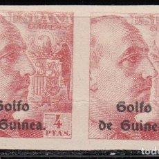 Sellos: GUINEA, 1943 EDIFIL Nº 270 S / ** /, PAREJA SIN DENTAR. . Lote 129321391