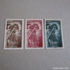 Francobolli: SAHARA 1950 EDIFIL Nº 83/85*, PRO INDIGENAS, FIJASELLOS EL Nº 85 SIN GOMA. Lote 132283522