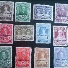 Sellos: OC- EXCOLONIAS ESPAÑOLAS - 1926 - GUINEA - EDIFIL 179/190 - COMPLETA - MH* - NUEVOS - PRO CRUZ ROJA. Lote 132652530