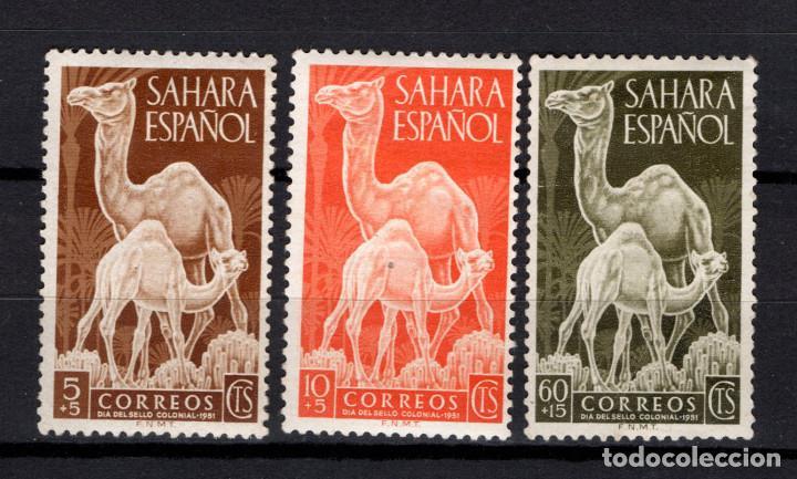 SAHARA 91/93* - AÑO 1951 - DIA DEL SELLO - FAUNA - DROMEDARIOS (Sellos - España - Colonias Españolas y Dependencias - África - Sahara)