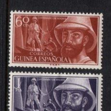 Sellos: GUINEA ESPAÑOLA 342/43* - AÑO 1955 - CENTENARIO DEL NACIMIENTO DEL EXPLORADOR MANUEL IRADIER. Lote 134043422
