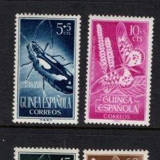 Sellos: GUINEA ESPAÑOLA 330/33* - AÑO 1953 - DIA DEL SELLO - FAUNA - INSECTOS - MARIPOSAS. Lote 134043678
