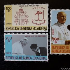 Sellos: GUINEA ECUATORIAL. EDIFIL 32/4. COMPLETA NUEVA SIN CHARNELA. PAPA JUAN PABLO II. Lote 134740207