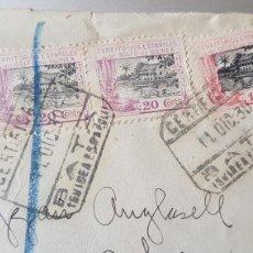 Sellos: 1930 CARTA ENVIADA BATA GUINEA ESPAÑOLA A BARCELONA. Lote 134754174