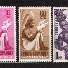 Sellos: GUINEA ESPAÑOLA 325/29* - AÑO 1953 - FOLKLORE - INDIGENAS. Lote 134944514