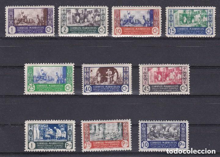 MARRUECOS AÑO 1946 ARTESANIA, EDIFIL Nº 260 A 269* * (NUEVOS) (Sellos - España - Colonias Españolas y Dependencias - África - Marruecos)
