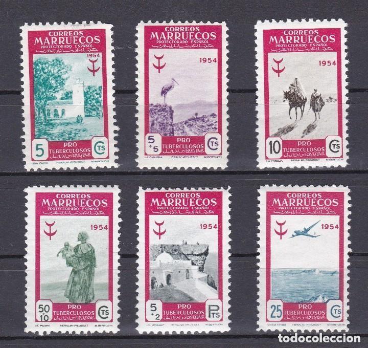 MARRUECOS AÑO 1954 PRO TUBERCULOSOS EDIFIL Nº 394 Y 399* * (NUEVOS) (Sellos - España - Colonias Españolas y Dependencias - África - Marruecos)