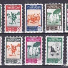 Timbres: MARRUECOS AÑO 1953 XXV ANIV PRIMER DIA DEL SELLO EDIFIL Nº 384 Y 393* * (NUEVOS). Lote 135475658