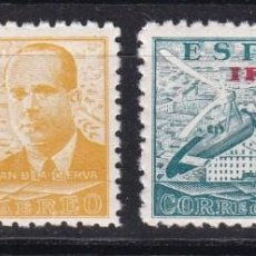 Sellos: IFNI 1948 - JUAN DE LA CIERVA SERIE NUEVA SIN FIJASELLOS EDIFIL Nº 57/58. Lote 135530234