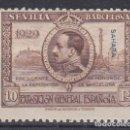 Sellos: SAHARA 1929 - 10 PESETAS VALOR CLAVE SELLO NUEVO CON FIJASELLOS EDIFIL Nº 35. Lote 135530422