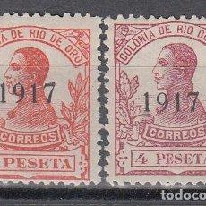 Sellos: RIO D ORO, 1917 EDIFIL Nº 101, 102, /*/. Lote 135675531