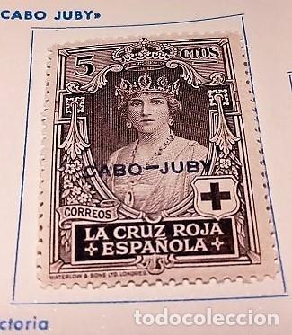 1 SELLO CABO JUBY 1926 PRO CRUZ ROJA ESPAÑOLA HABILITADO Nº 28 (Sellos - España - Colonias Españolas y Dependencias - África - Cabo Juby)
