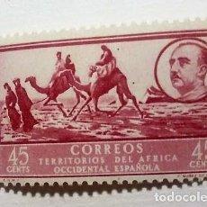 Sellos: 1 SELLO ÁFRICA OCCIDENTAL ESPAÑOLA 45 C 1950 PAISAJES Y EFIGIE DEL GENERAL FRANCO Nº 10. Lote 135944074